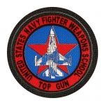 Patch United States Navy Fighter Weapons School Top Gun (Rouge)