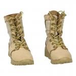 Suede Combat Boots (Beige)