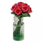 Vase avec bouquet de roses (Rose)
