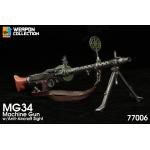 MG34 Machine Gun Anti-Aircraft with Ammo Drum (Grey)