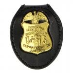 Federal Bureau Of Investigation Police Shield Badge (Gold)
