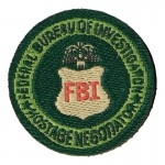 FBI Federal Bureau Of Investigation Hostage Negotiator Patch (Green)