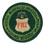FBI Federal Bureau Of Investigation Hostage Negotiator Patch (Green)