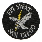 San Diego FBI SWAT Patch (Black)