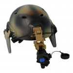 Base Jump Fast Helmet with AN/PVS-14 NVG (Snake Skin)