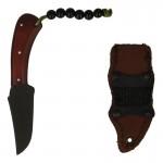 Couteau de combat avec étui en cuir (Marron)