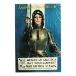 Affiche Joan Of Arc Saved France (Bleu)
