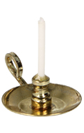 Diecast Candlestick with Candle (Gold)