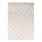 Papier peint à motifs fleurs (Blanc)