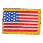 Patch drapeau Etats-Unis (Rouge)