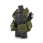 LBT-1195K Riverine Gunner Load Bearing Assault Vest with LBT-0990A Patrol Pack