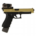 Pistolet Glock 34 9mm avec viseur point rouge Aimpoint (Or)