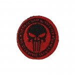 Punisher I Am The Infidel I Came Not To Bring Peace But To Bring A Sword Patch (Red)