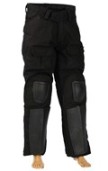 Tactical Pants with Pads (Black)