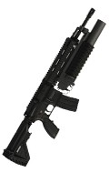 HK 416D Assault Rifle with M203 Grenade Launcher (Black)