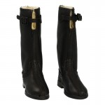 Bottes de vol Royal Air Force Md 36 en cuir (Noir)