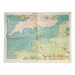 Carte topographique de la Manche (Bleu)