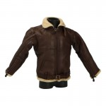 Blouson de vol Irvin Royal Air Force en cuir (Marron)