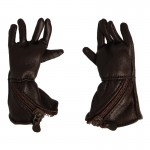 Gants de vol Royal Air Force Md 33 en cuir (Marron)
