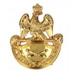 Diecast Field Artillery Gunner Shako Badge (Gold)