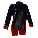 Habit veste Officier d'Artillerie Md 1812 en velours (Bleu)