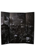 Mexico City Day Of The Dead Parade Diorama Background (Grey)