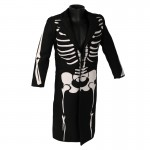Bones Patterned Frock Coat (Black)