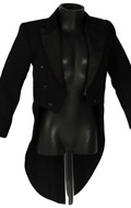 Tailcoat Suit Jacket (Black)