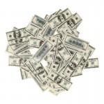 Bank Notes with Joker Drawing (Khaki)