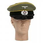 Wehrmacht Nachrichtentruppe Signal Corps Schirmmütze Visor Cap (Feldgrau)