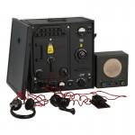 Radio DKE avec transmetteur 100.W.S en métal et accessoires (Gris)