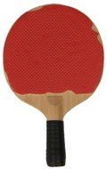 Worn Table Tennis Paddle (Red)