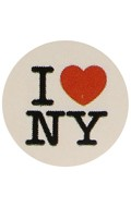 I Love New York Sticker (White)