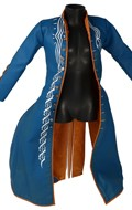 Flexible Leather Coat (Blue)