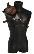 Harness with Shoulder Pad, Scabbard and Knife Sheaths (Brown)