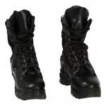 Chaussures de combat en cuir (Noir)