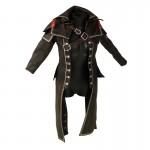 Worn Leather Flexible Redingote Robe (Brown)