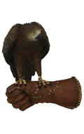 Gloved Right Hand with Falcon (Brown)
