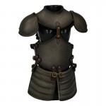 Armure de buste de chevalier Croisé en métal Femme (Gris)