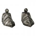 Chaussures en armure de Chevalier Lothrique en métal aspect usé (Gris)