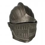Casque de Chevalier Lothrique en métal aspect usé (Gris)