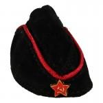 Calot Pilotka Officier Armée Rouge en velours Femme (Noir)
