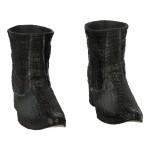 Crocodile Skin Boots (Grey)