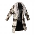 Manteau en fourrure (Gris)