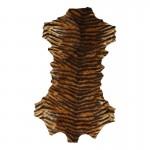 Peau de tigre en velours (Marron)