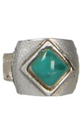 Ring with Emerald (Silver)