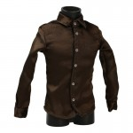 Satin Shirt (Brown)