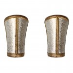 Armures d'avant bras de Général romain en métal (Argent)