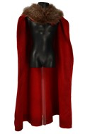 Velvet Cape with Fur Collar (Red)