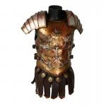 Armure de buste de Général romain ensanglantée en métal (Or)